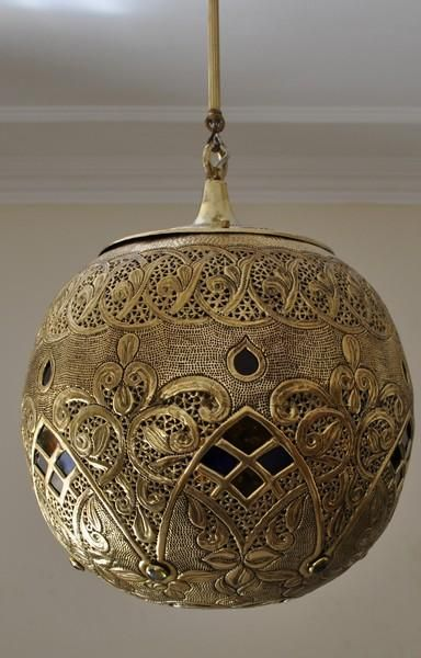 Moroccan Oxidize Brass Lantern Lamp Lighting