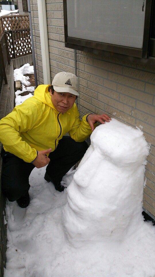 たまにしか降らないので、 雪かきも楽しんで。