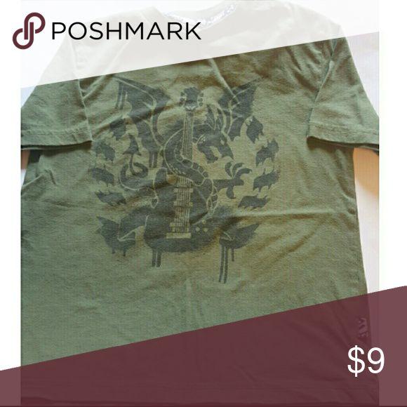 Boys Shaun White 6/7 Green Shirt Dragon/guitar short sleeved t shirt Shaun White  Shirts & Tops Tees - Long Sleeve