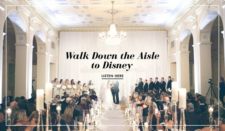 10 Disney Songs for Your Processional   Photography: Rob and Wynter Photography. Read More: http://www.insideweddings.com/news/planning-design/the-top-10-disney-songs-for-your-processional/2758/