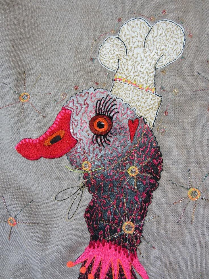 'Bonjour Canard' (detail) by Louise Gardiner