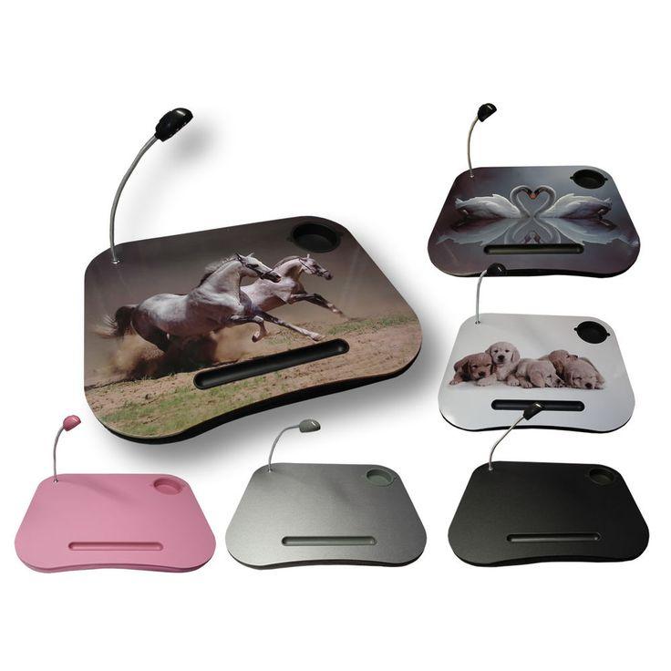 Portable Cushion Padded Bean bag Lap Tray LED Light Laptop Laptray Cupholder NEW £7.75