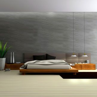 Great Grays: Decorating with shades of gray and minimal furniture gives a simple, modern look.    Read more: Bedroom Decorating Ideas - Decorating a Master Bedroom - Good Housekeeping