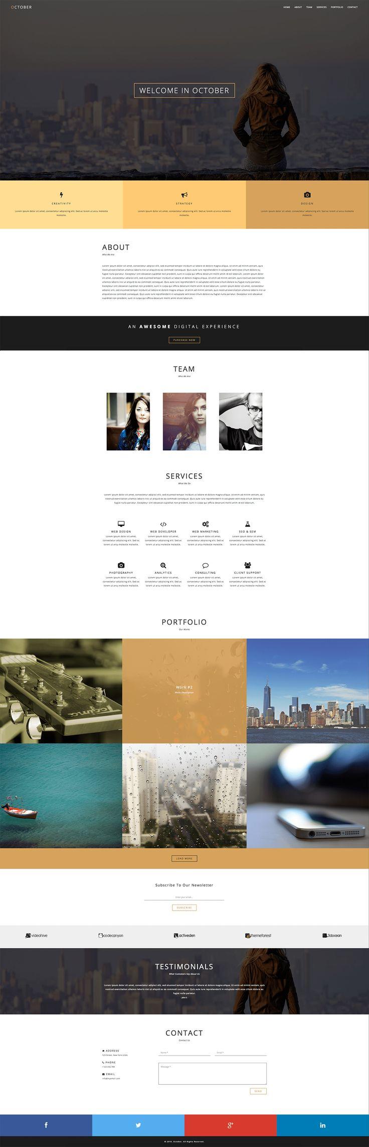 Vedi il mio progetto @Behance: \u201cOctober - Responsive One Page HTML Template\u201d https://www.behance.net/gallery/44371505/October-Responsive-One-Page-HTML-Template