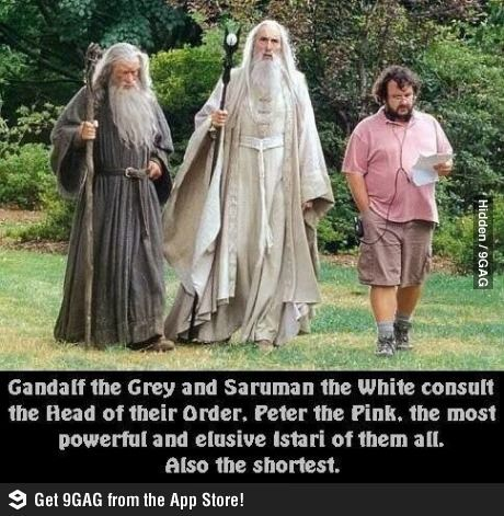 Lord of the rings/the hobbit humour.