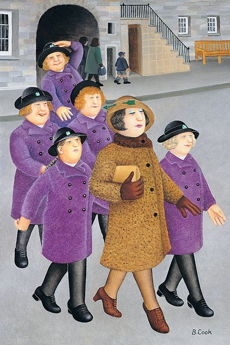 Illustrations for The Prime of Miss Jean Brodie by the inimitable Beryl Cook