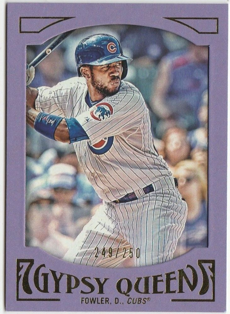 DEXTER FOWLER 2016 Topps Gypsy Queen FRAMED PURPLE PAPER FRAME /250 CUBS #ChicagoCubs