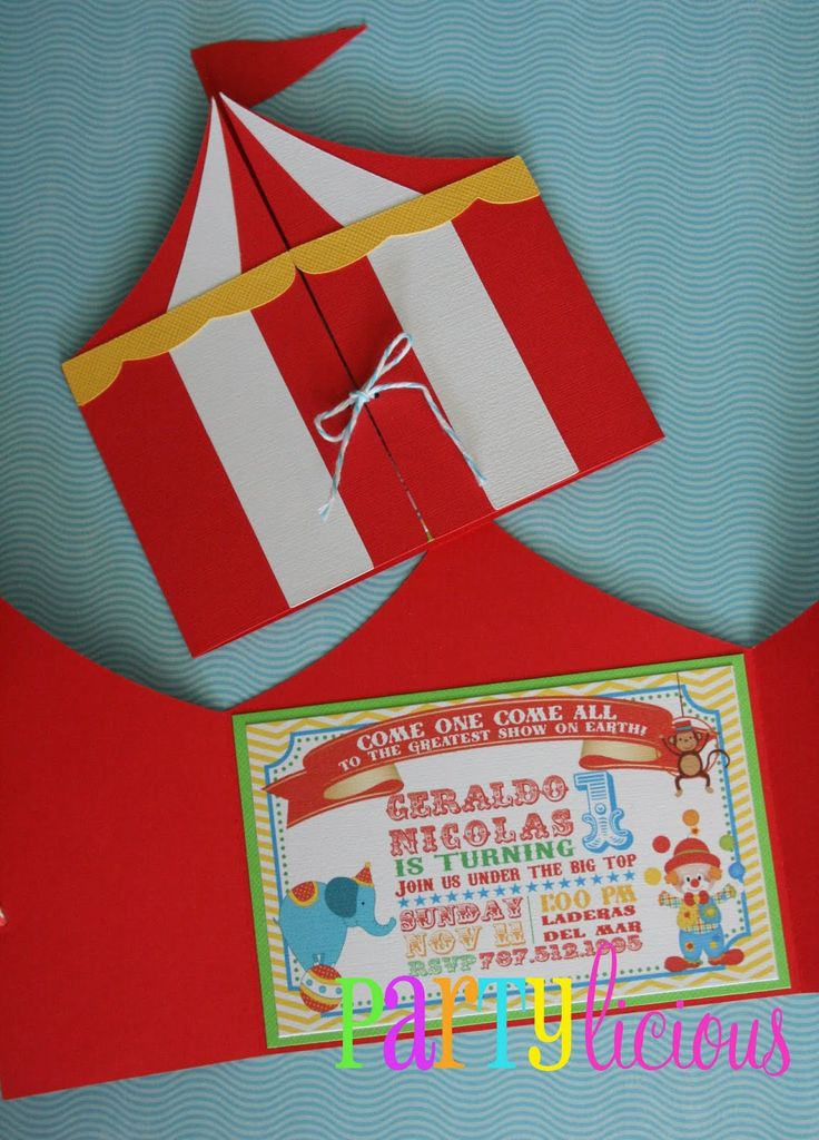 Best Carnival Party Invitations Ideas On Pinterest Circus - Birthday invitation cards circus