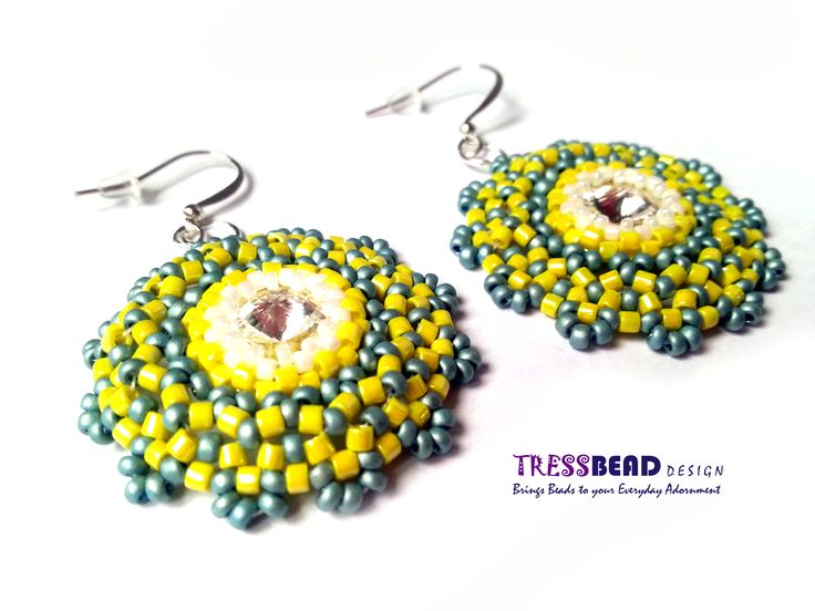 Caribbean party that I went this weekend inspired me to make these Bohemian style beaded earrings ! smile emoticon  Entirely out of my usual approach... smile emoticon