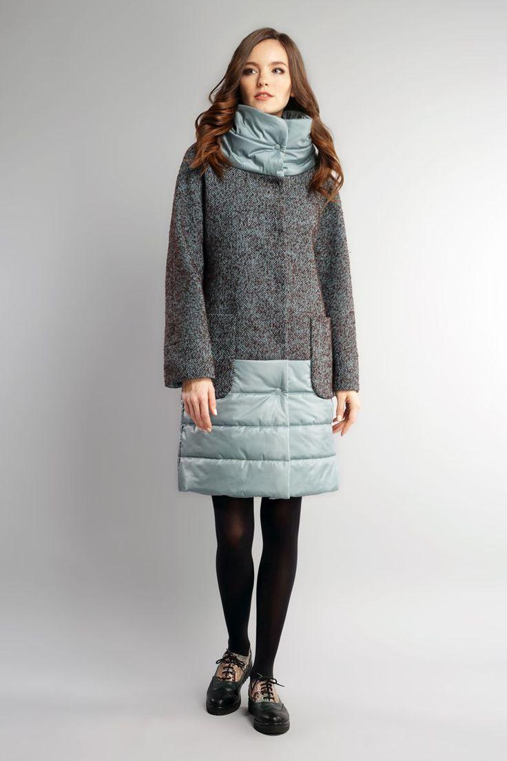 Шерстяное утепленное пальто