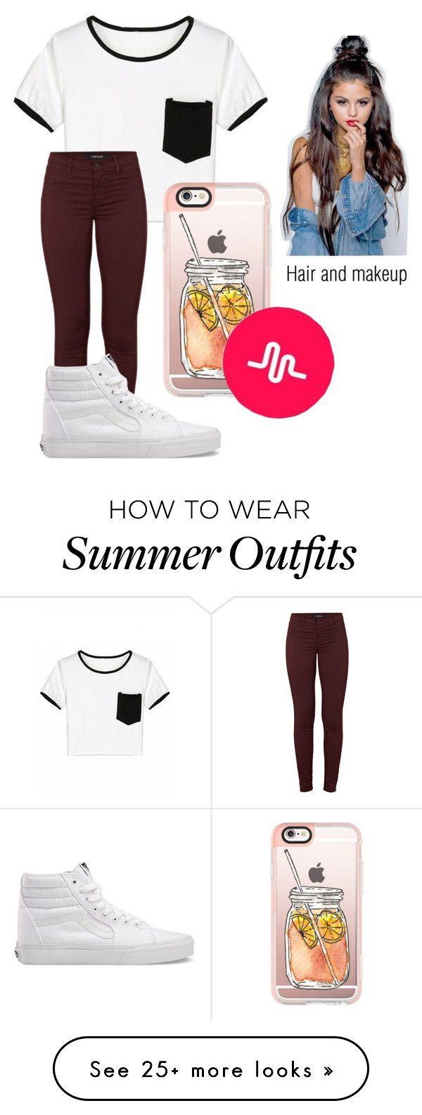 """""""VidCon Outfit"""" by magconxalex on Polyvore featuring J Brand, Vans and Casetify"""