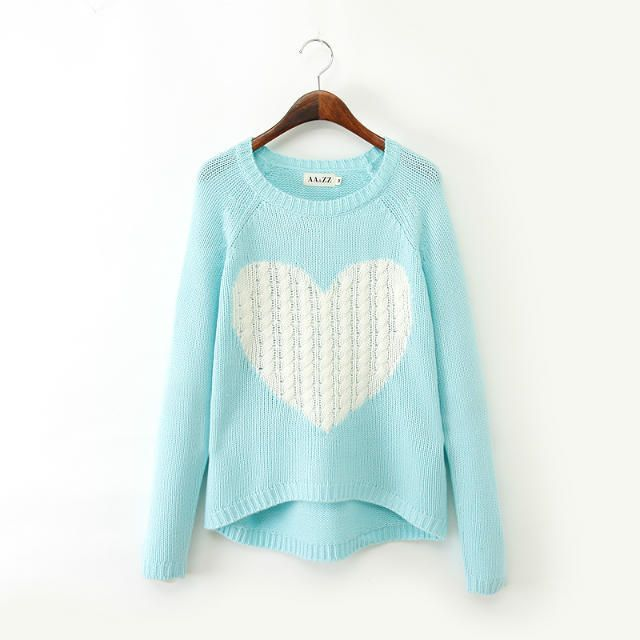 Love Round Neck Long-sleeved Sweater