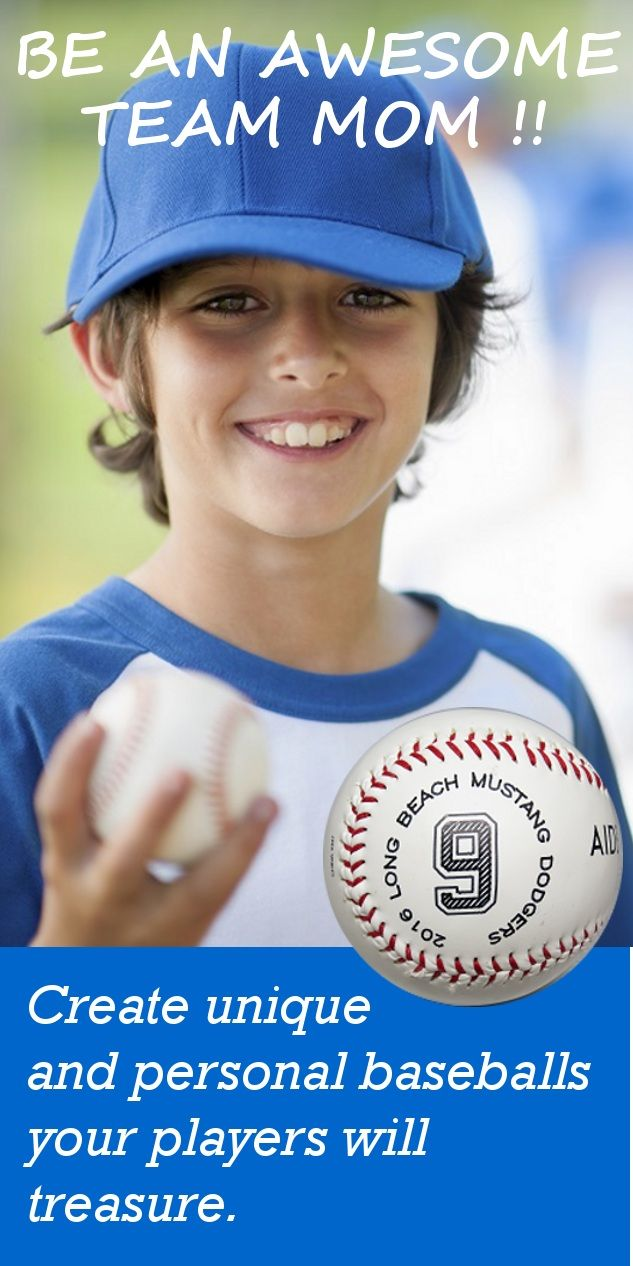 Looking for a unique way to commemorate a great baseball season ?  Your team mom, coaches, parents, and players will love these customizable baseballs.  Hand them out as player awards during the team party or recognize achievements of individual players with personalized details.