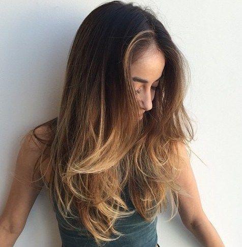 Lange Unordentliche Frisur