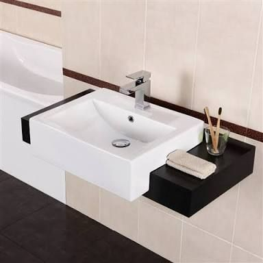 Image result for semi recessed basin cabinet