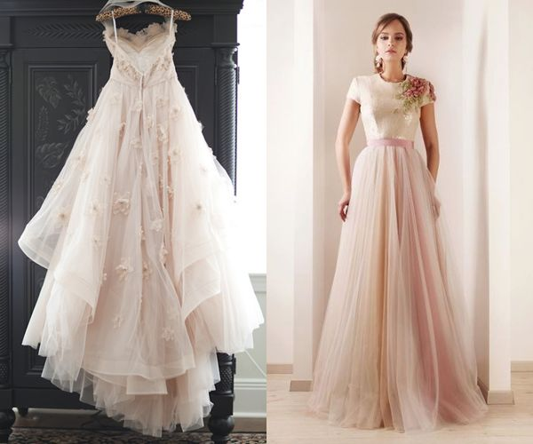Pemberley rose inspired by pink wedding gowns wedding for Pink ombre wedding dress