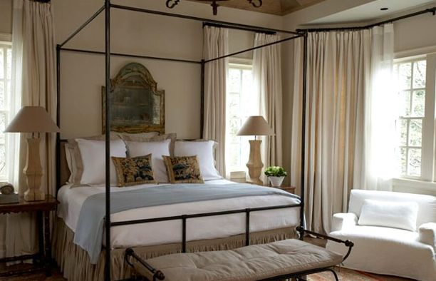 Splendid Sass: BARBARA WESTBROOK ~ INTERIOR DESIGN  this bedroom is perfection personified!