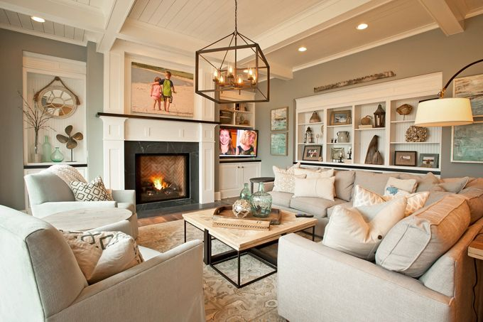 coastal family room | KP Designs & Associates