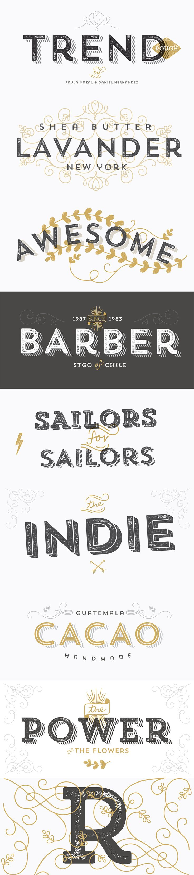 Font of the day: Trend Rough                                                                                                                                                                                 More