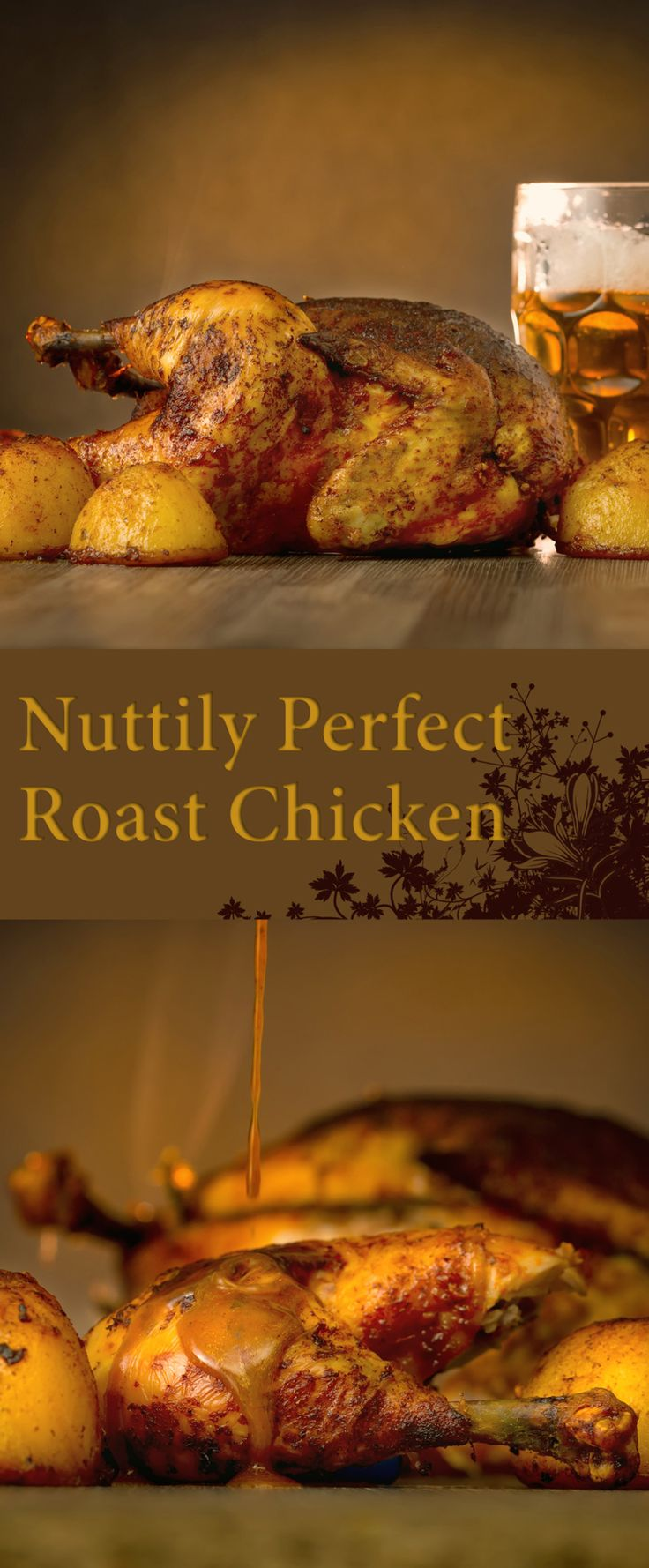 Nuttily Perfect Roast Chicken Recipe: Nuttily perfect Roast Chicken, uses a combination of peanuts, aromatic spices and a touch of paprika elevate this wee chuck to to a whole new level. #chicken #chickenrecipe #roastchicken #chickendinner #recipe #recipeoftheday #dinner #traditionalcooking