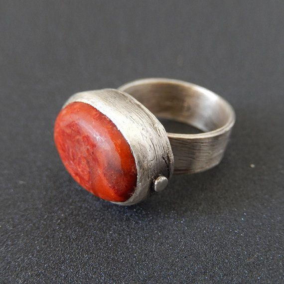 Boho Chic Sterling Silver Ring  Artisan ring  by applenamedD