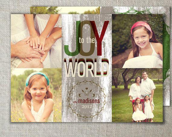 Christmas photo ideas // Modern holiday photo card or christmas card with by peartreespace #holidayphotocard #christmasphotocard