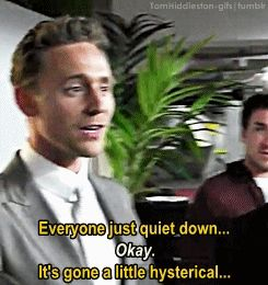 tomhiddleston-gifs: When Tom Hiddleston wants to get some respect, he does get it. He gets it by telling it gently, patiently and firmly… with a smile. Gif-set: http://tomhiddleston-gifs.tumblr.com/post/69822329111/x-when-tom-hiddleston-wants-to-get-some Video: https://www.youtube.com/watch?v=BotnlbhkV38