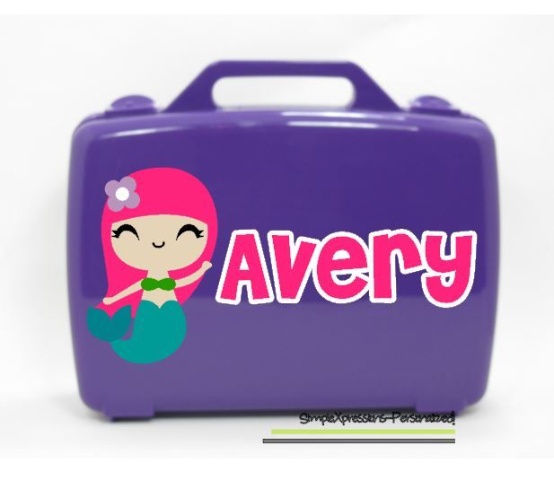 Mermaid Personalized Kids Storage Box- Carrying Case ...