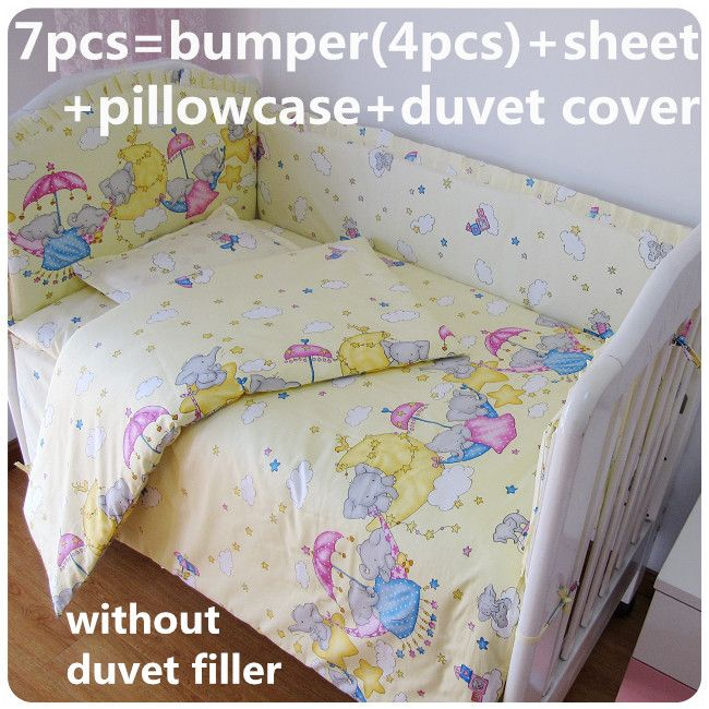Discount! 6/7pcs baby bedding set crib cushion for newborn cot bed sets baby bumper,120*60/120*70cm #Affiliate