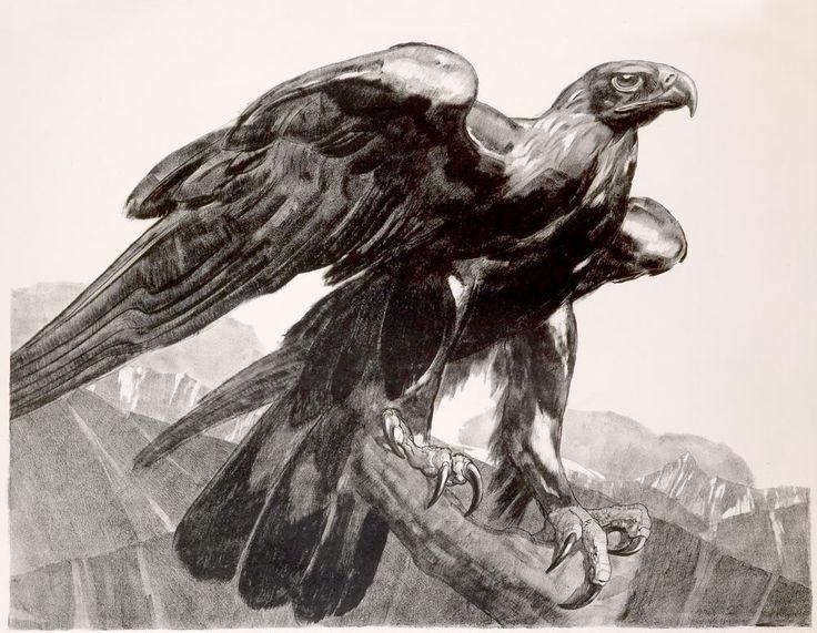Aigle, 1929Lithographie originale. Épreuve d'artiste sur papier Velin de Rives…