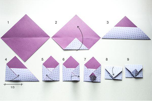 hier nun eine neue faltanleitung f r einen origami umschlag der umschlag eignet sich gut f r. Black Bedroom Furniture Sets. Home Design Ideas