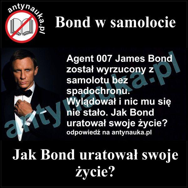 Zagadka logiczna, Bond w samolocie
