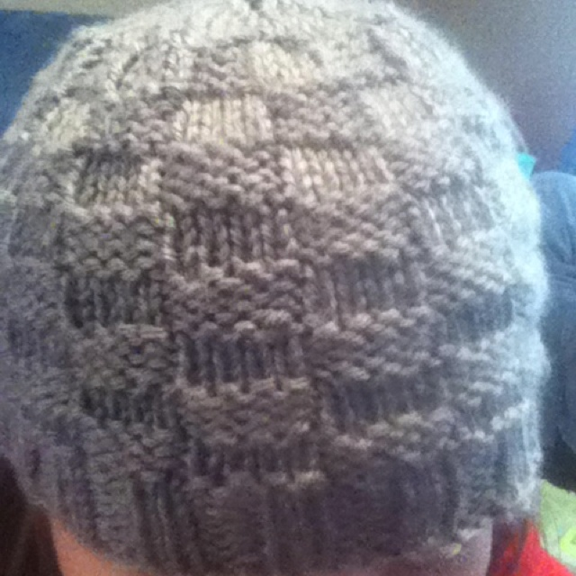 Double Knitting In The Round : Checkerboard hat cast on stitches i use double pointed