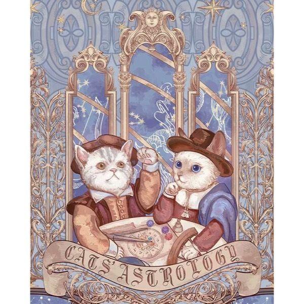 【予約】占星猫ジャストウエストジャンパースカート(来年3月出荷) Honey honey|ハニーハニー