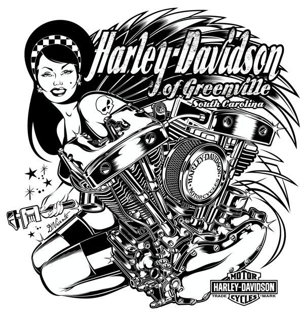 T-Shirt Design for HARLEY DAVIDSON - Greenville - South Carolina - USACopyright Harley Davidson © 2012.