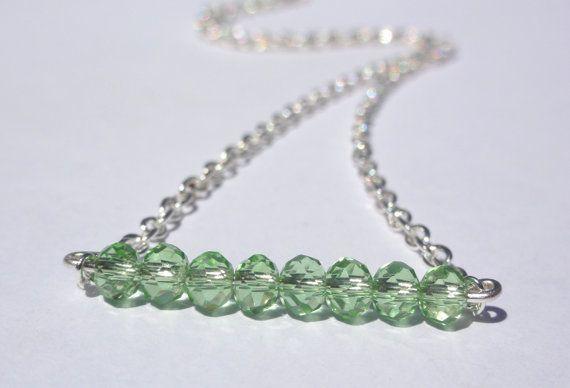 Friendship NecklaceThiny bead Necklace. by StunningGemsJewelry