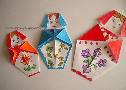 Meijo's Joy: Origami Babushka / Matryoshka doll