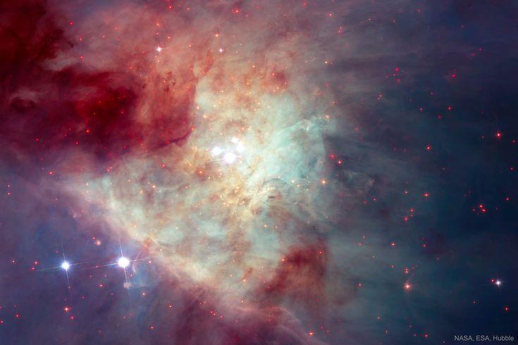 Éste es el Trapecio. Es un cúmulo abierto, en el que destacan las 4 estrellas que podemos observar en el centro de la Nebulosa de Orión. La nebulosa es una de las regiones más grandes de formación de estrellas de la Vía Láctea. #astronomia #ciencia