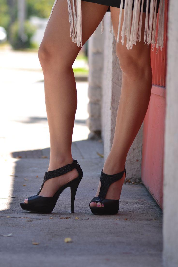 Sandalia negra de fiesta! Eda Manzini