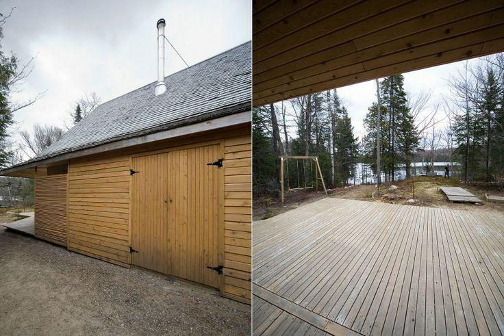 bois   wood  Résidence secondaire des Laurentides construite en chanvre et bardeaux de cèdre. – L. McComber ltée – architecture vivante