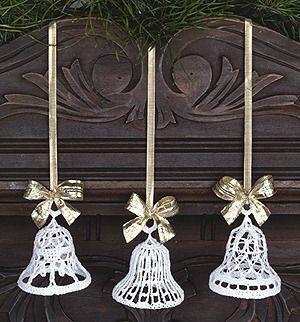 Leisure Arts - Beautiful Bells Thread Crochet Ornament Pattern ePattern, $2.99 (http://www.leisurearts.com/products/beautiful-bells-thread-crochet-ornament-pattern-digital-download.html)