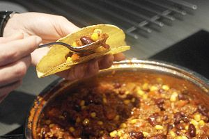 taco's met chili con carne