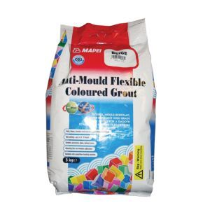 Mapei White Anti-Mould Flexible Grout (W)5kg Mapei White Anti-Mould Flexible Grout (W)5kg.This 5kg anti-mould flexible grout is use with underfloor heating  timber floors on for ceramic tiles natural stone  porcelain. Simply apply and leave fo http://www.MightGet.com/april-2017-1/mapei-white-anti-mould-flexible-grout-w-5kg.asp