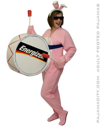 DIY Homemade Energizer Bunny Costume This is a NO-SEW COSTUME. How to make an…
