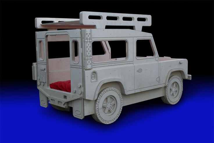 Land Rover 90 Safari/Military bed with roof rack storage