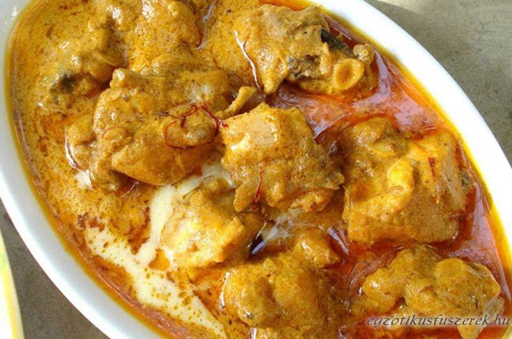 Sáfrányos Csirke - Indiai Mughlai Kesar Murg - Indiai konyha - Receptek Messzeföldről - Egzotikus fűszerek