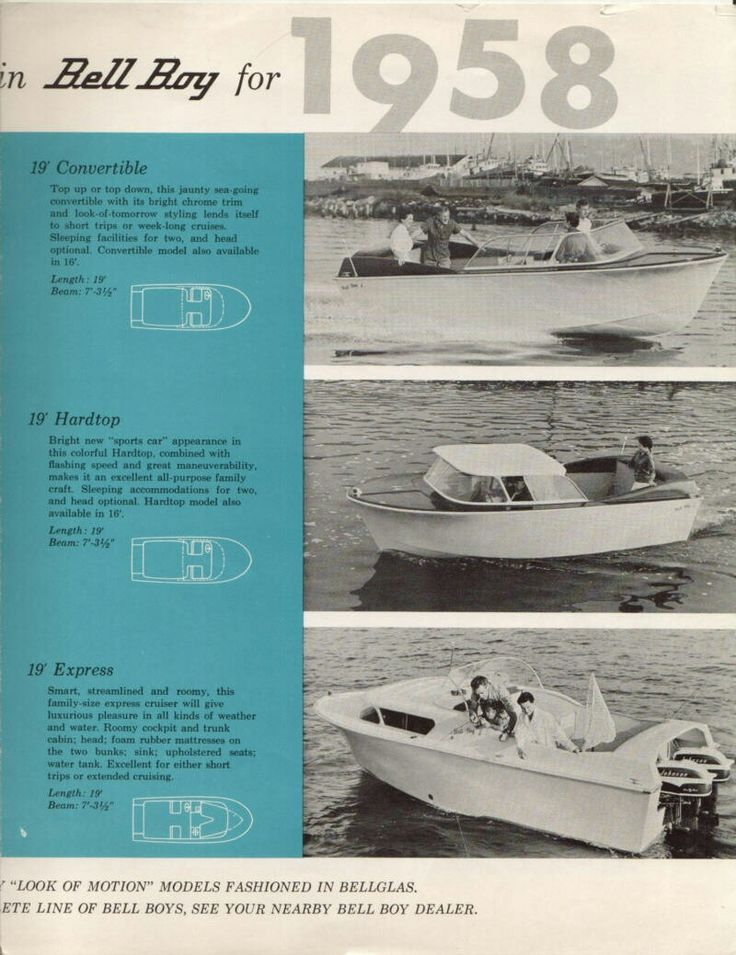 1958 catalogue of Bell Boy models