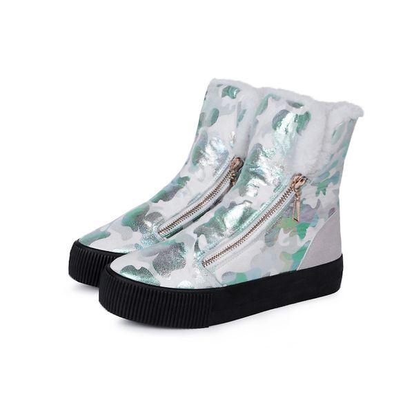 M.GENERAL знаменитые граффити хлопка теплые сапоги плоские ботинки пятки женской стороны молния плюс бархат сапоги Мартин M-6919