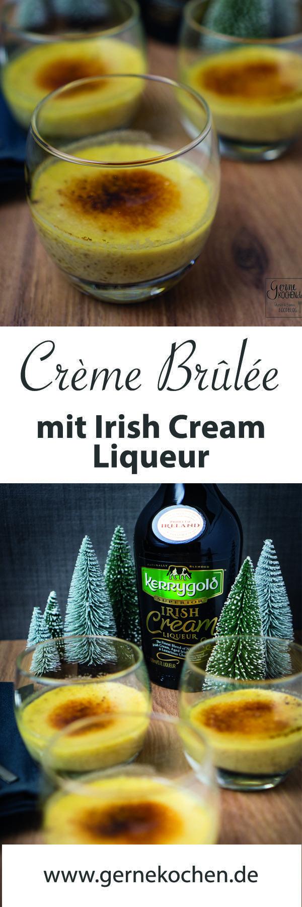 Creme Brulee aus einer Irish Cream Liqueur ist super passend für die Weihnachtszeit. Und es läßt sich als Weihnachtsdessert super vorbereiten.