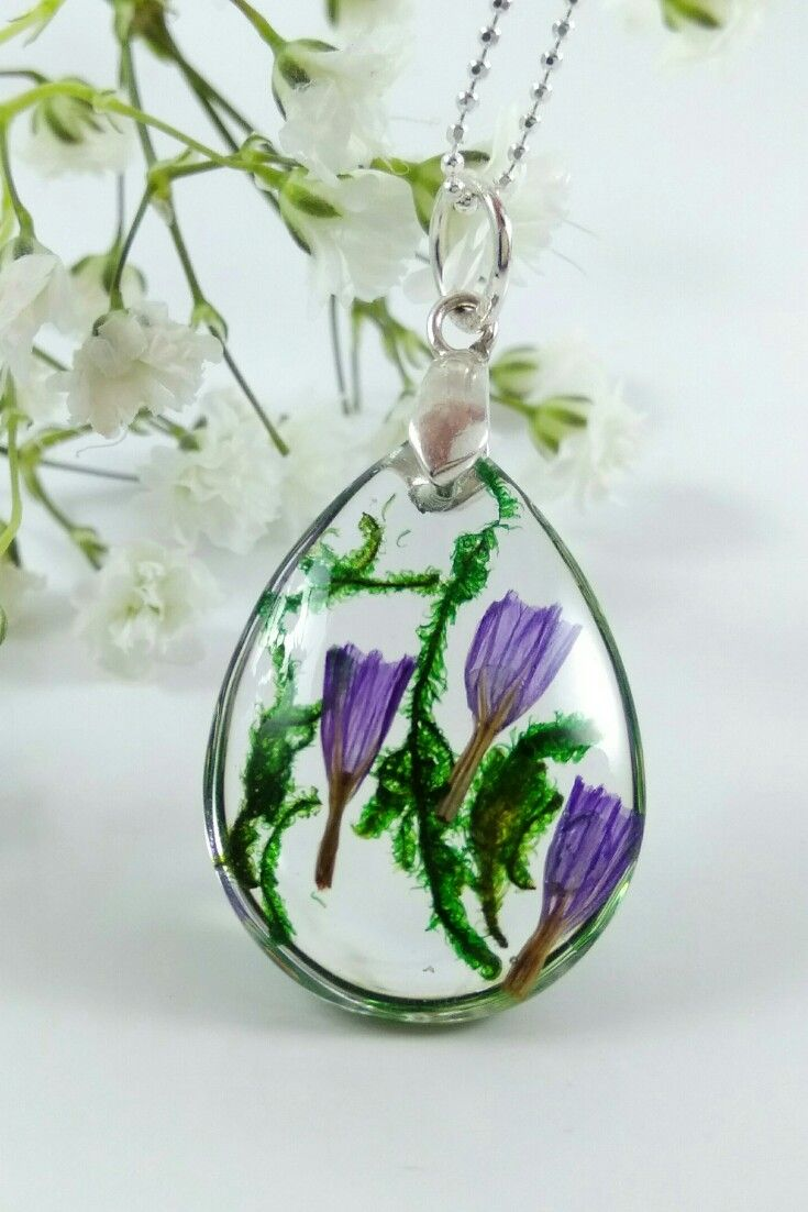 Terrarium Necklace For Woman Lavender Necklace Moss Necklace Botanical Jewelry Real Flower Jewelry Resin Jewelry Nature Lover Gift For Her Botanical Jewelry Lavender Necklace Real Flower Jewelry